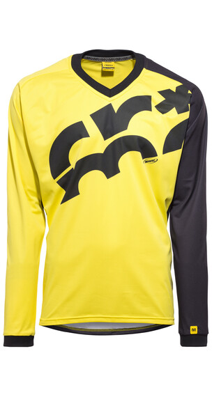 Mavic CrossMax LS Jersey Men screen yellow mavic/black